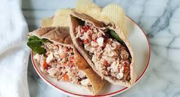 Greek Tuna Salad Pockets Recipe