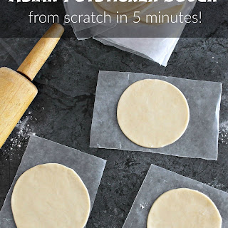 How To Make Asian Potsticker Dough in 5 Minutes.