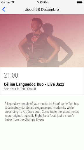 Agenda Jazz Paris 2.0.0 screenshots 2