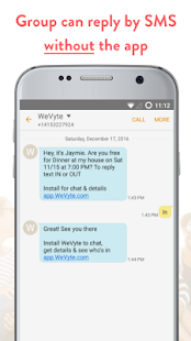 WeVyte Group Invites by Text (Unreleased)- screenshot thumbnail