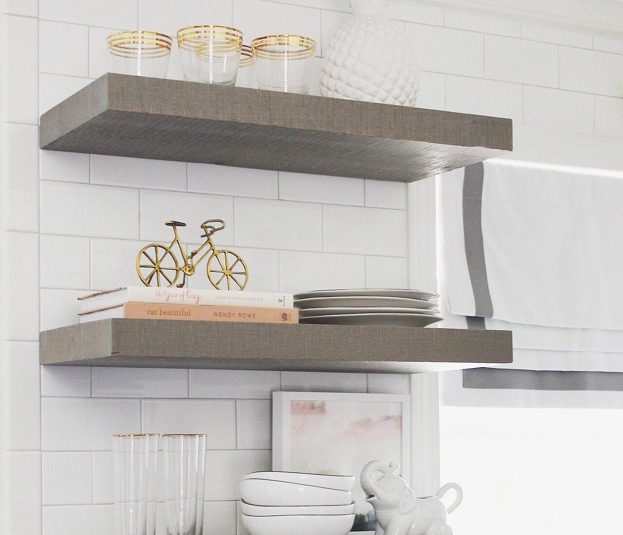 Practical Floating Shelves