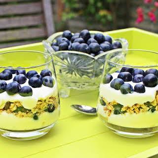 Blueberry Breakfast Parfait with Greek Yogurt & Lemon Curd.