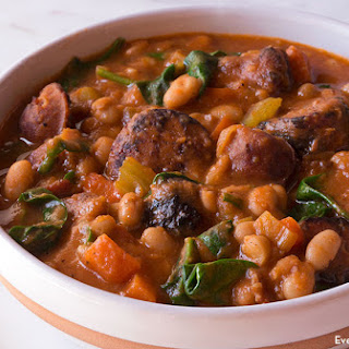 Chicken Sausage And White Bean Soup.