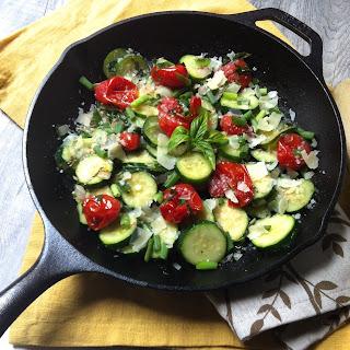 Sauteed Tomato Basil Zucchini