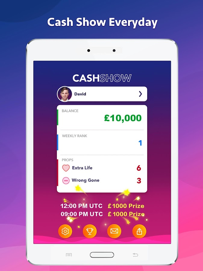 cash show uk win real cash android apps on google play. Black Bedroom Furniture Sets. Home Design Ideas