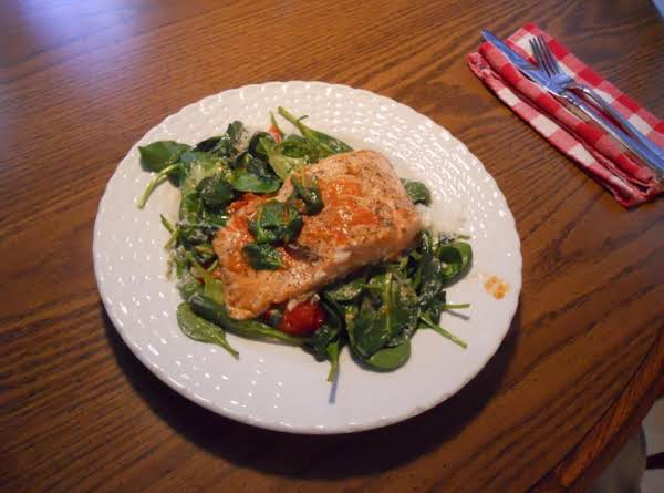 Pan Seared Salmon Warm Spinach Salad Recipe