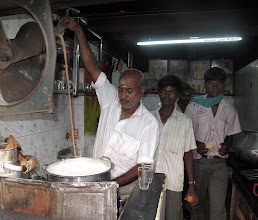 Photo: Chai Master This Fellow was In His 5 Foot Wide  Chai Shop From 4:00 AM To 10:00 AM 7 Days A Week Chennai Tamil Nadu India Chai Making & Dawn In Puri India 2010 - MONTAGE http://www.youtube.com/user/Sufibooks?feature=mhum#p/u/0/8PY9L81phZI