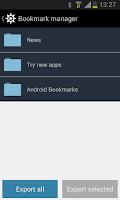 Screenshot of Bookmark Manager - Lite