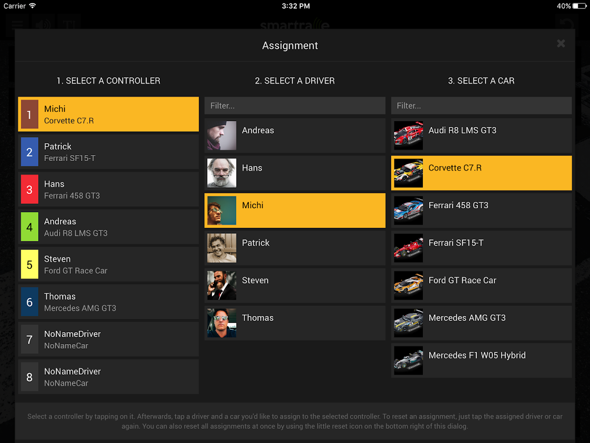 SmartRace - Carrera Race App – Screenshot