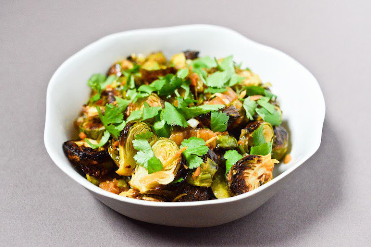 Roasted Brussels Sprouts and Ginger with Kimchi Recipe | Yummly