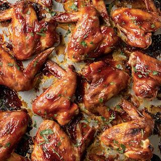 Gluten Free Sticky Barbacue Wings.