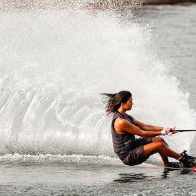 Women Waterski by Eric Wang - Sports & Fitness Watersports ( water ski, pwcwatersports, women )