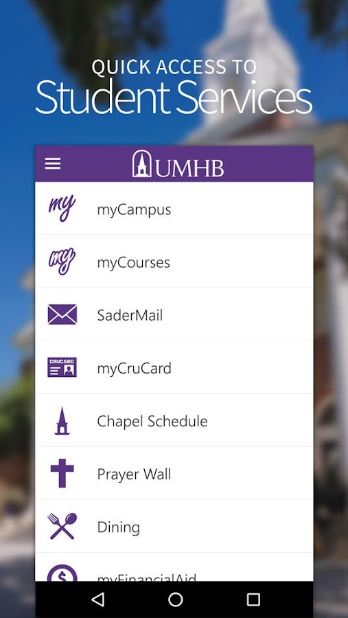 UMHB Cru Mobile- screenshot