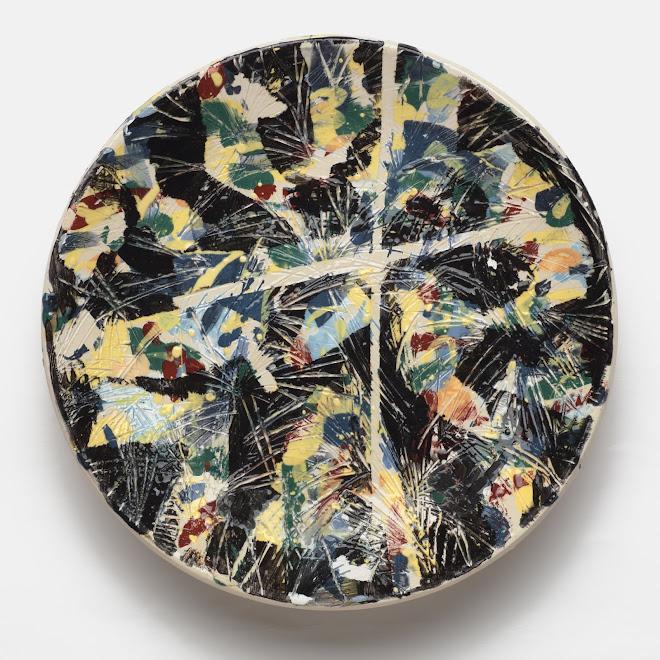 """<p> Study for Granada 1<br /> Ceramic plate<br /> 13 ¼"""" x 13 ¼""""<br /> 2019</p>"""