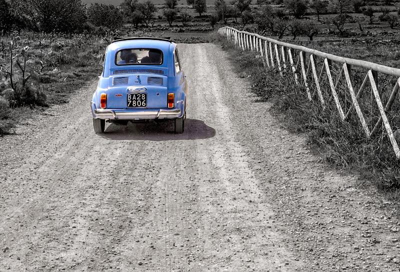 Le scampagnate con la mitica Fiat 500 di Diana Cimino Cocco