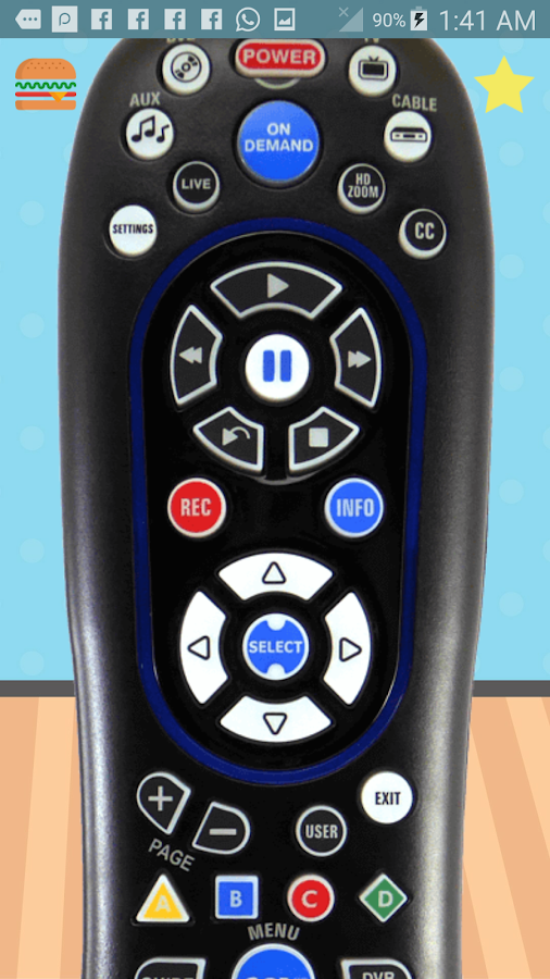 Universal Remote Controller Rc122 For Time Warner Cable 5 Device In