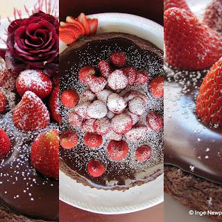 Almond Chocolate Tart & Strawberries