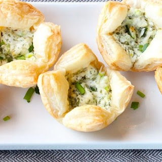 Herb and Goat Cheese Puff Pastry Bites - an Easy Party Appetizer! Recipe