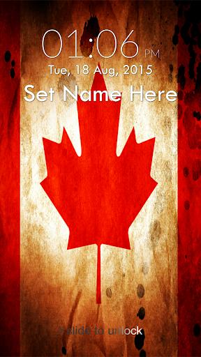 Canada Flag Keypad Lock Screen