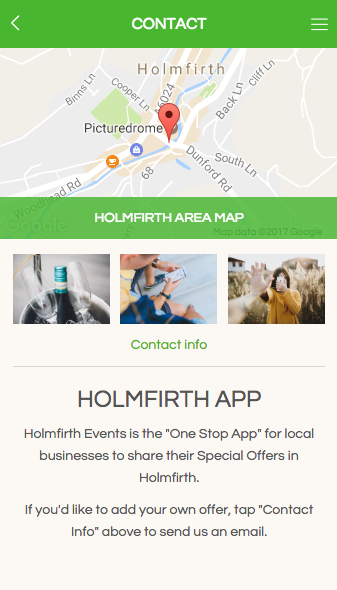 Holmfirth App- screenshot