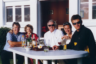 Photo: Yves, Thérèse, Ken, Anne and Xavier Battle at Bizais' country home near Brest, France; 1996  KMH