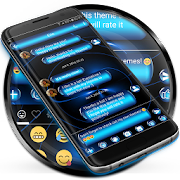 SMS Messages Spheres Blue Theme