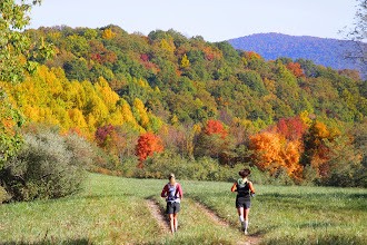 Photo: 2010 Cumberland Trails 50K runners were struck by the beauty of the fall colors as they neared the halfway point