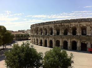 Photo: Arena at Nimes, our view
