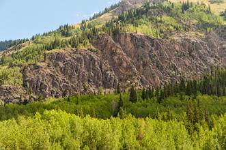 Photo: Cliffs along Million Dollar Highway