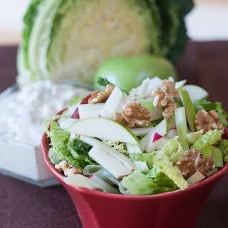 Crisp Winter Salad with Maple Gorgonzola Dressing.