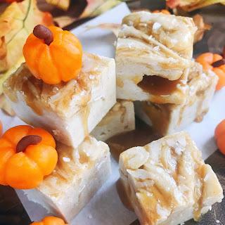 Salted Caramel Pumpkin Spice Fudge.