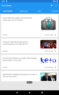 Tech News Screenshot