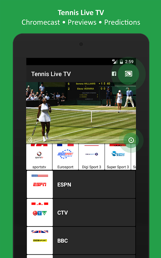Tennis Live TV - Television- screenshot