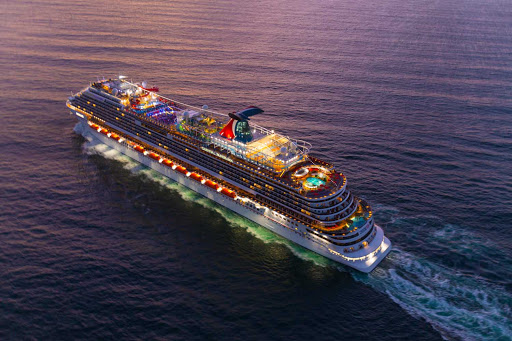 carnival-panorama-aerial-at-dusk-forward-1.jpg - Sail out of Los Angeles to Mexico on Carnival Panorama, one of the new ships from Carnival.