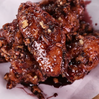 Spicy Sticky Port and Candied Walnut Wings