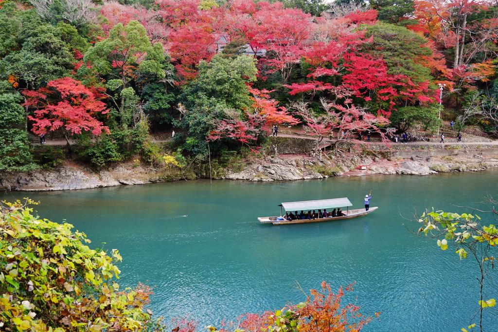 alt:Beautiful autumn leaves in Kyoto.