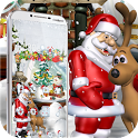 Merry Christmas Santa theme 3D icon