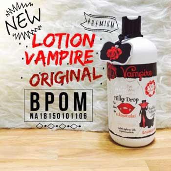 Pelembab Tubuh Untuk Kulit Kering dan Kusam Lotion Vampire 500 ml Merah Original