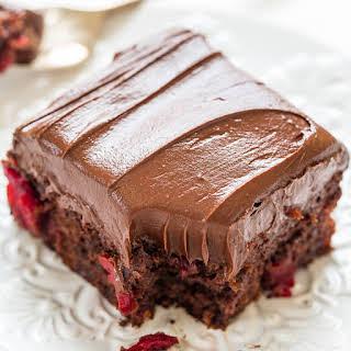 Triple Chocolate Cherry Cake.
