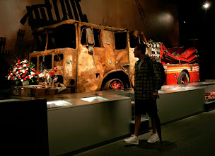 Photo: John Whalen of Cohoes, N.Y., visits the World Trade Center exhibit, that includes the New York Fire Department's Engine 6, an early responder to the World Trade Center site, at the New York State Museum in Albany, N.Y., Tuesday, Sept. 11, 2007.  (AP Photo/Mike Groll)