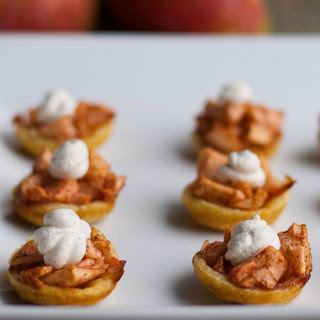 Spiked Mini Apple Tarts with Cinnamon Whipped Cream