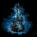 Blue Fire Guitar LWP icon