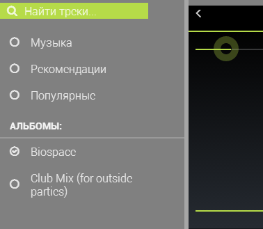 VK Music Control- screenshot