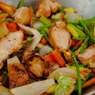 Ginger Chicken and Vegetable Stir Fry.