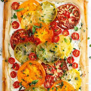 Tomato Ricotta Phyllo Tart.
