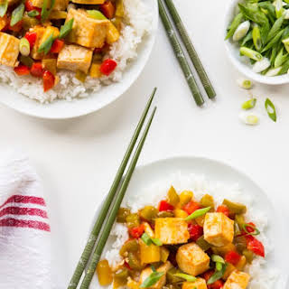 Baked Sweet and Sour Tofu.