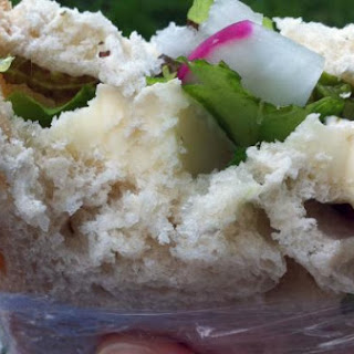 Herb, Brie and Radish Sandwich
