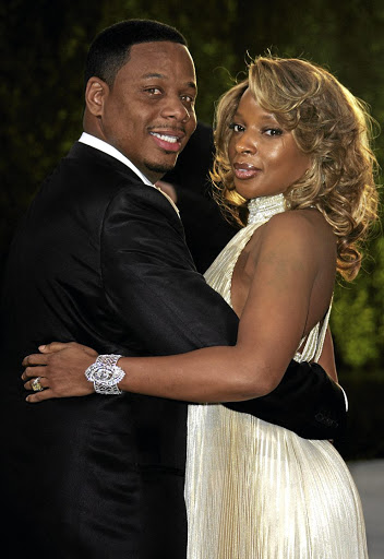 Singer Mary J. Blige and her ex-husband Kendu Isaacs during happier times. Now she must pay him papgeld. /Evan Agostini/Getty Images