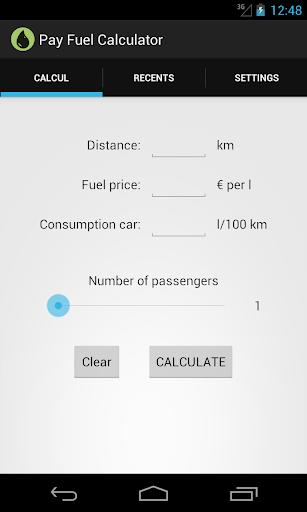 Pay Fuel Calculator