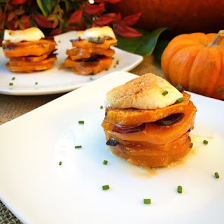 Au Gratin Sweet Potato Stacks